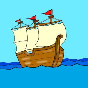 イラスト「直った船」