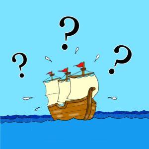 イラスト「迷う船」