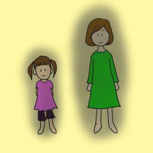 イラスト「親子のトラウマ」